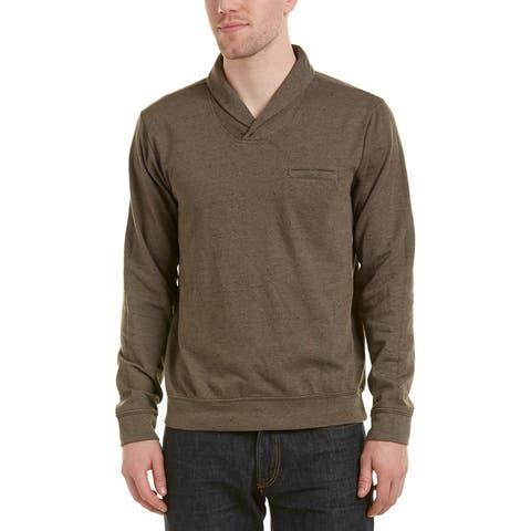 Splendid Mills Mens Sweatshirt Brown Size XL Double Face Shawl Collar
