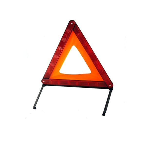 Unique Bargains Unique Bargains Foldable Red Black Plastic Roadway Warn Reflective Triangle Board