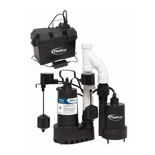 ProFlo PF92952 1/3 HP Sump Pump System with Back Up
