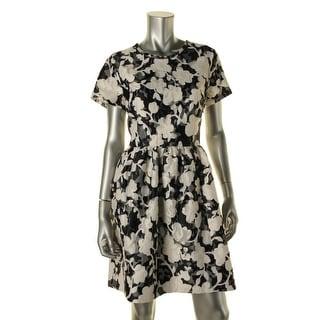 Kate Spade Womens Jacquard Floral Print Party Dress - 10