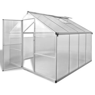 vidaXL Reinforced Aluminium Greenhouse with Base Frame 65.12 ft²