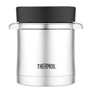 Thermos vacuum insulated 12 oz microwave food jar ss/black