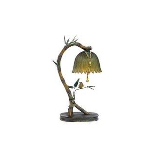 Sterling Industries 91-932 1 Light Mini Table Lamp with Leaf Shade
