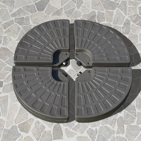 Outsunny Outdoor Patio Cantilever Umbrella Base Weights with Build-In Carry Handles and Fill with Either Sand or Water