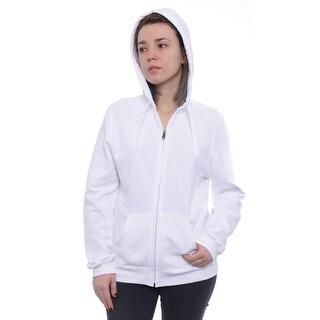 Champion  Hooded Full-Zip Eco Fleece Jacket Basic Jacket White