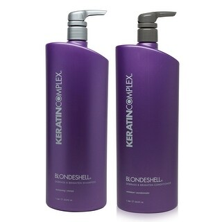 Keratin Complex Blondeshell Debrass & Brighten Shampoo & Conditioner Liter Combo Pack