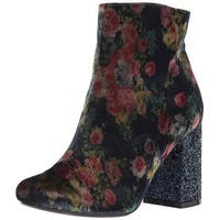 Not Rated Womens CHERRY Fabric Almond Toe Ankle Fashion Boots