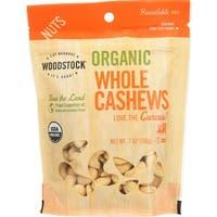 Woodstock Organic Cashews - Whole - Raw - Case of 8 - 7 oz.