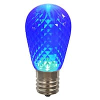 Club Pack of 25 LED Blue Replacement Christmas Light Bulbs - E26 Base