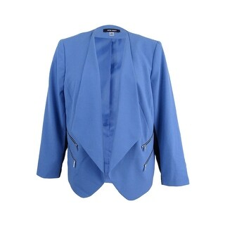 Link to Nine West Women's Kiss Front Jacket (6, Space Blue/Black) - Space Blue/Black Similar Items in Suits & Suit Separates