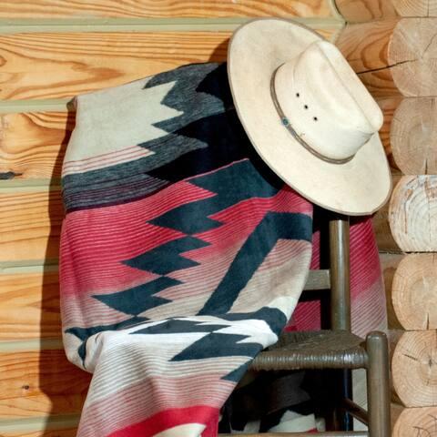 Vibrant Southwestern Throw Blanket Carrizo by IBENA