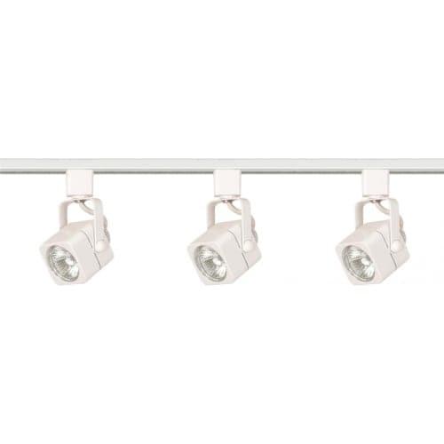 Nuvo Lighting TK345 Three Light MR16 Square 120V Track Kit - White
