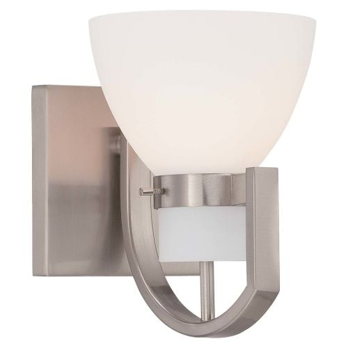 Minka Lavery 5381-84 1 Light Bathroom Sconce from the Hudson Bay Collection
