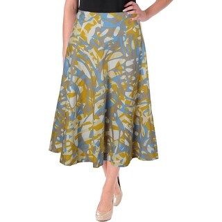 Lafayette 148 Womens Linen Printed A-Line Skirt - 6