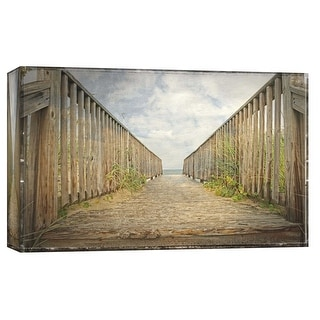 "PTM Images 9-103785  PTM Canvas Collection 8"" x 10"" - ""Path To the Sea"" Giclee Nautical and Ocean Art Print on Canvas"