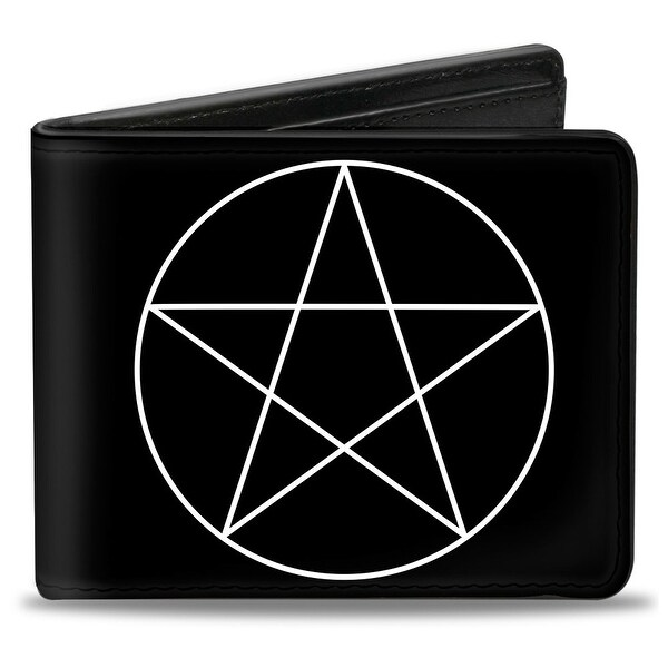Supernatural Pentagram Black White Bi Fold Wallet - One Size Fits most
