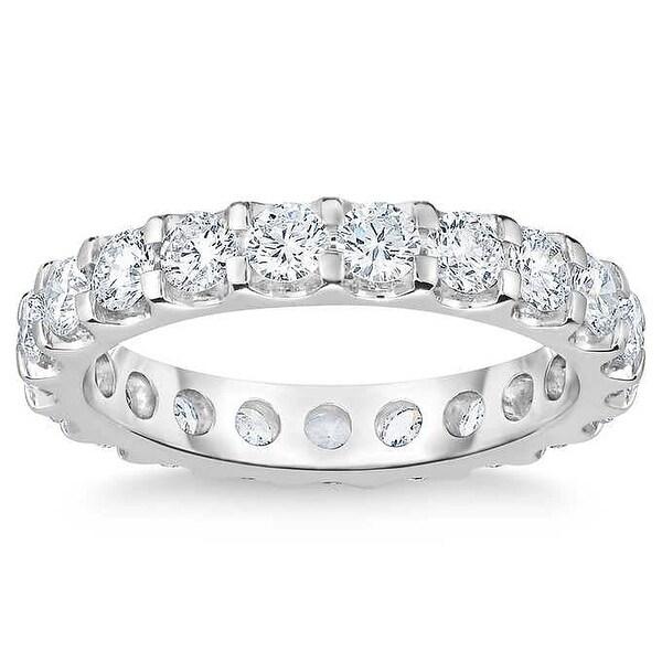2 Ct Moissanite Eternity Ring Womens Wedding Band 14k White Gold (G/H, VS1-VS2). Opens flyout.