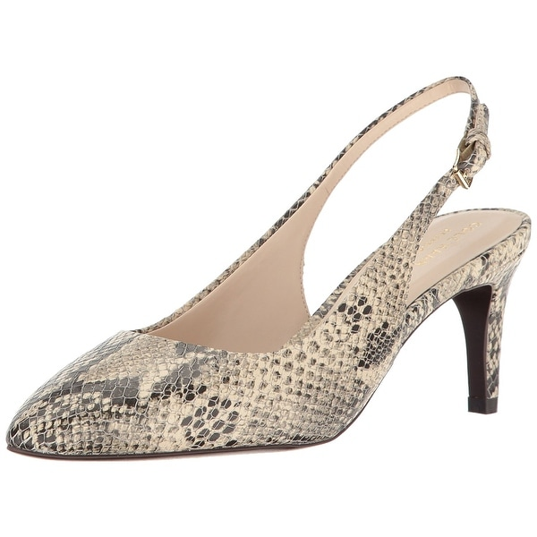 0cc5dc9ed68b Cole Haan Womens Medora Sling Leather Pointed Toe SlingBack Classic Pumps
