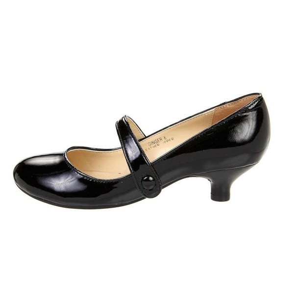 Gabriella Rocha Womens Ginger Leather Round Toe Mary Jane Pumps