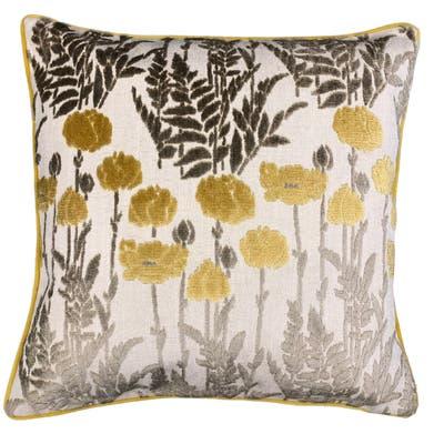 Rodeo Home Camelia Floral Cut Velvet Throw Pillow