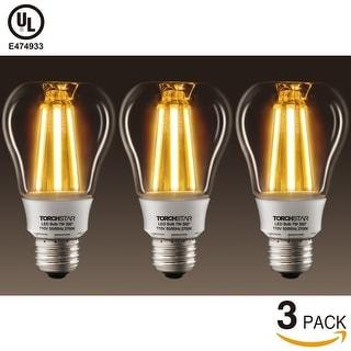3 PACK 7W Vintage LED Filament Light Bulb, UL listed Antique Edison Bulb, 50W Incandescent Equivalent, 2700K Soft White