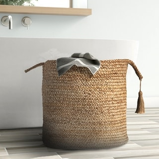 """Link to LR Home Montego Solid Natural Jute Decorative Storage Basket (19 in.) - 19"""" x 19"""" x 19"""" Similar Items in Decorative Accessories"""