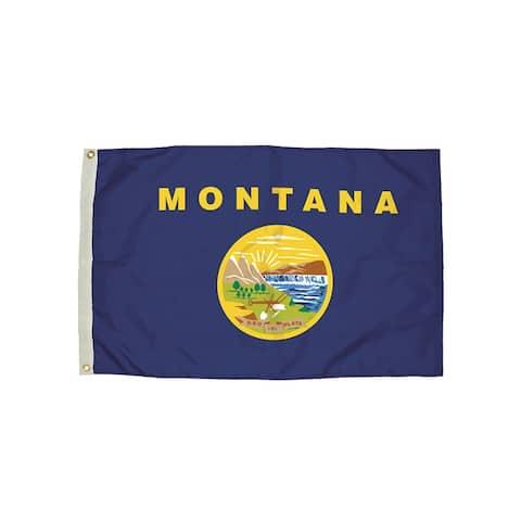 Independence flag 3x5 nylon montana flag heading & 2252051