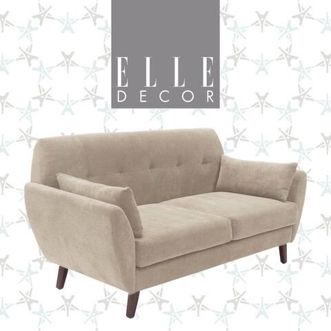 "Elle Decor 61"" Mid-Century Modern Amelie Loveseat"