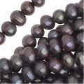 Freshwater Cultured Pearls, Round Potato Beads 4-6mm, 16 Inch Strand, Light Periwinkle Purple - Thumbnail 0