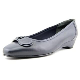 Mark Lemp By Walking Cradles Bean Women N/S Apron Toe Leather Flats