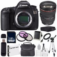 Canon EOS 5DS DSLR Camera (International Model) 0581C002 + Canon EF 24-105mm f/4L IS USM Lens + LP-E6 Battery Bundle