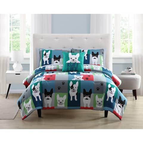 Asher Home Kids Puppy Patchwork Comforter Set