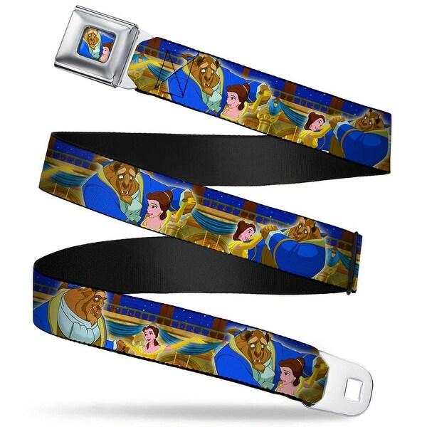 Beast & Belle Ball Scene Glow Full Color Beast & Belle Ball Scene Glow Seatbelt Belt