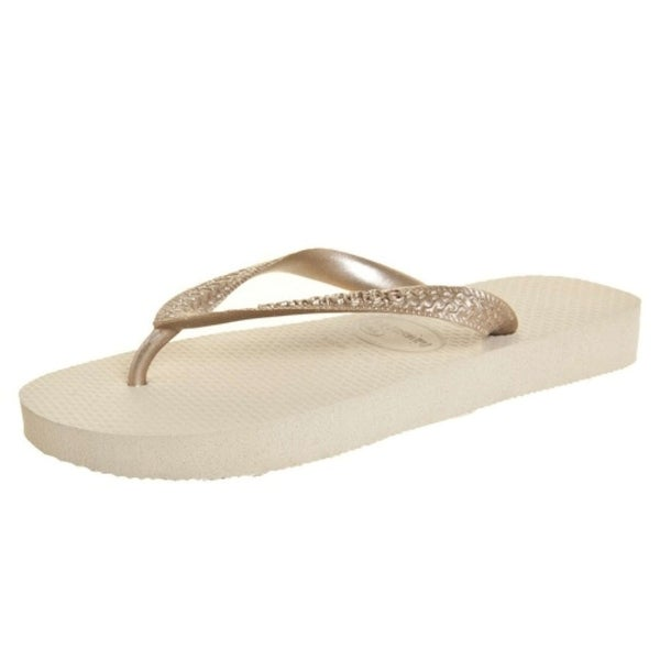 b42027b9f Shop Havaianas Womens Top Metallic Rubber Open Toe Beach - Free ...