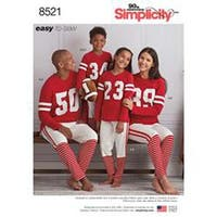 Xs-L/Xs-Xl - Simplicity Family Top & Pants With Football Pillow