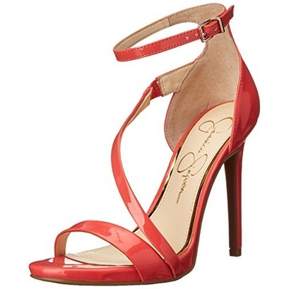 Jessica Simpson Womens RAYLI Open Toe Ankle Strap Classic Pumps