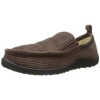 Northside Mens Pavo Loafer Slippers Textured Faux Fur