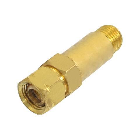 """Unique Bargains Brass Dry Flashback Arrestor Valve Adapter Regulator Fitting PT 3/8"""""""