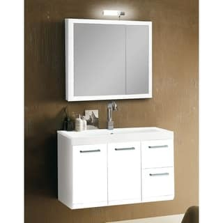 Buy Manufactured Wood Ceramic Bathroom Vanities Vanity Cabinets - Lotti bathroom vanity
