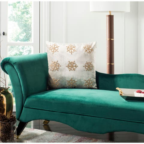SAFAVIEH Holiday Sydnee Snowflake 20-inch Decorative Pillow