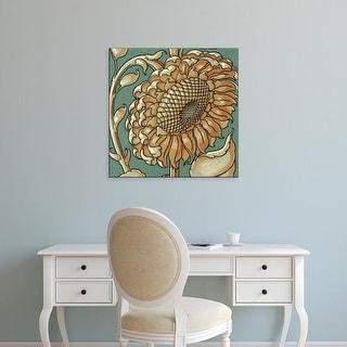 Easy Art Prints Unknown's 'Sunflower Woodblock II' Premium Canvas Art