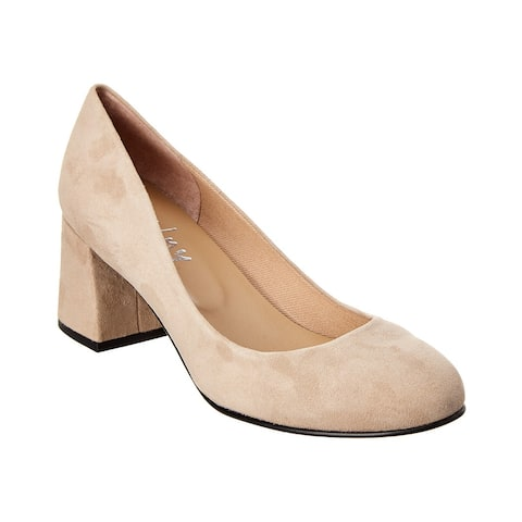 French Sole Carnelian Suede Pump