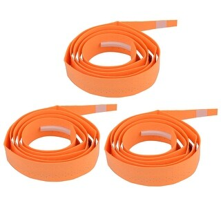 Badminton Foam Nonslip Racket Sweat Absorbing Wrap Over Grip Tape Orange 3 Pcs