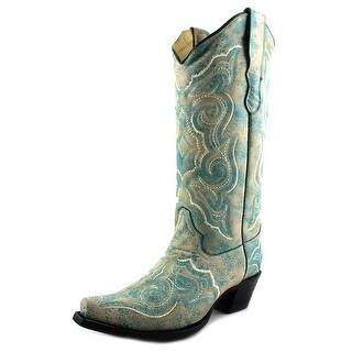Corral E1007 Women  Pointed Toe Leather Blue Western Boot