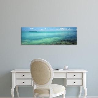 Easy Art Prints Panoramic Image 'Coral reefs in ocean, Bahia Honda Key, Florida Keys, Monroe, Florida' Canvas Art