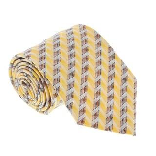 Missoni U4706 Gold/Orange Chevron 100% Silk Tie - Grey - 60-3