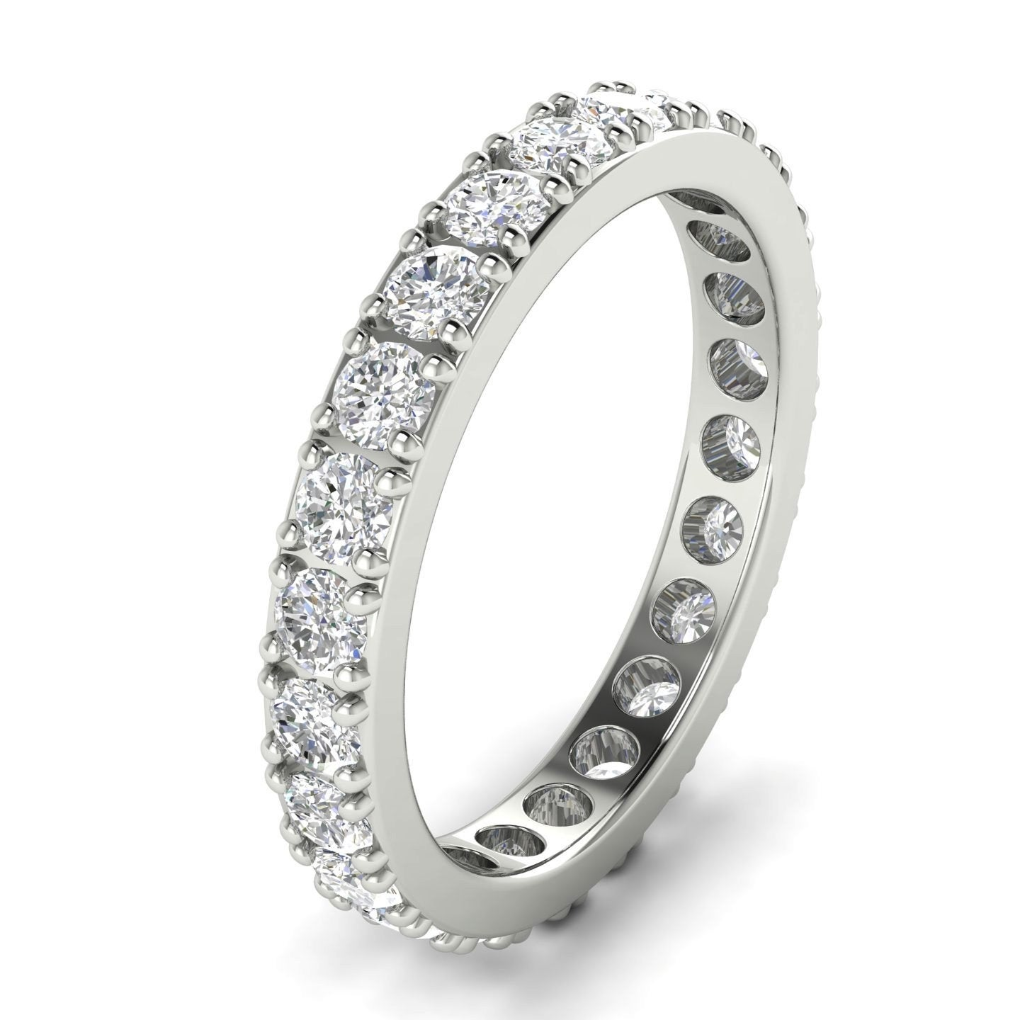 It is just a picture of 38.38 CT Fishtail Round Cut Diamond Eternity Wedding Band in 384KT