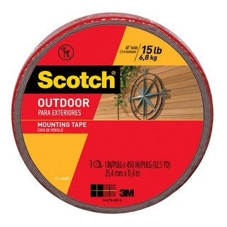 Scotch 411-LongDC Outdoor Mounting Tape, Gray