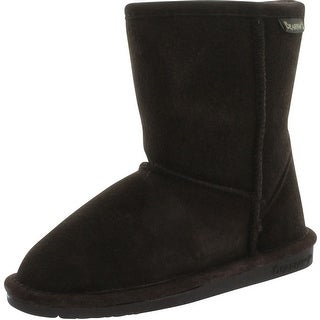 Bearpaw Emma Short 608T Suede Boot - charcoal pomberry