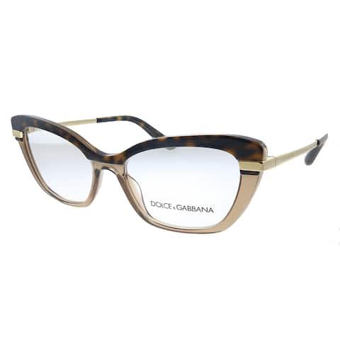 Dolce&Gabbana DG 3325 3256 Womens Havana Crystal Brown Eyeglasses 52mm